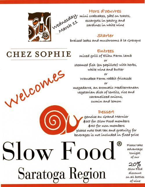 Chez Sophie Menu 3-09